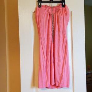 Victoria's Secret Dresses - Size Med. Coral sundress with built in necklace.